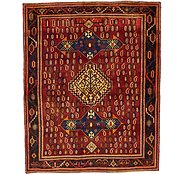 Link to 4' 9 x 5' 10 Roodbar Persian Rug