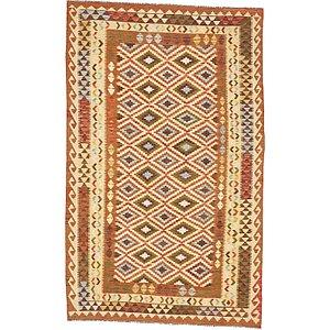 Unique Loom 5' 3 x 8' 6 Kilim Maymana Rug