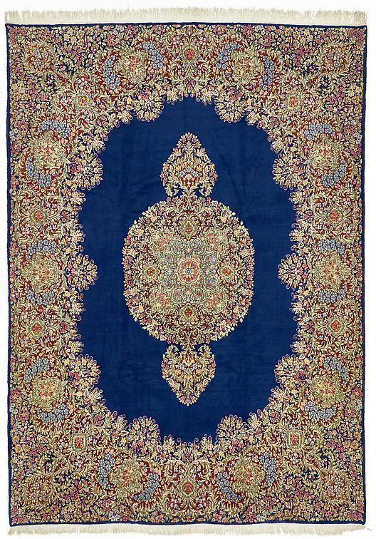 Navy Blue 8 9 X 12 2 Kerman Persian Rug Persian Rugs