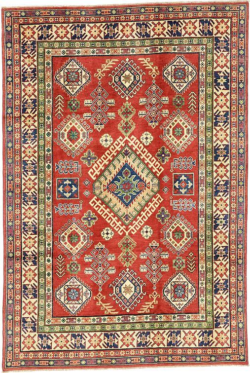 Red 6 8 X 10 Kazak Oriental Rug Oriental Rugs Esalerugs