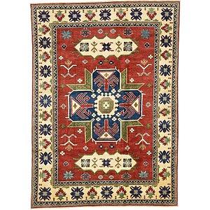 Unique Loom 6' 4 x 8' 10 Kazak Oriental Rug