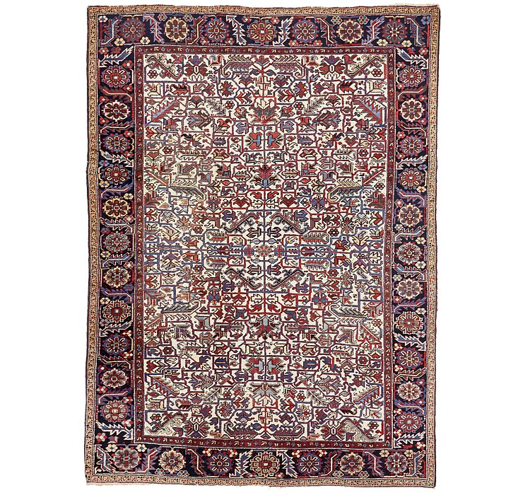 8' 3 x 11' Heriz Persian Rug