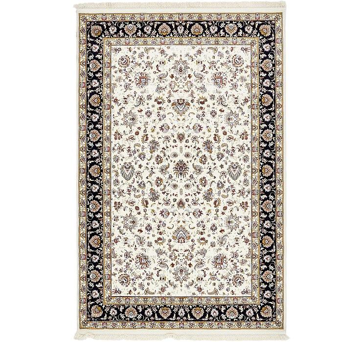6' 4 x 10' Kashan Design Rug