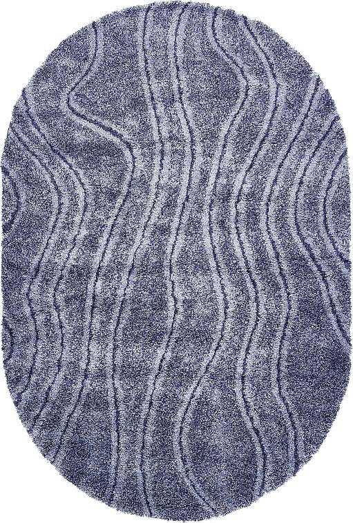 Blue 6u0026#39; 6 x 9u0026#39; 8 Multi-Tone Shag Oval Rug : Area Rugs : eSaleRugs