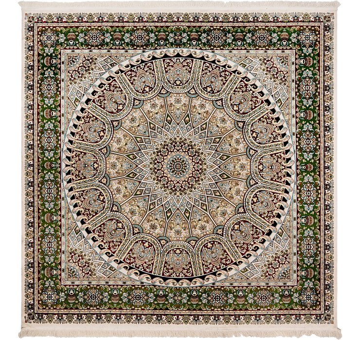 Blue 9 11 X 10 4 Nain Persian Square Rug Persian Rugs