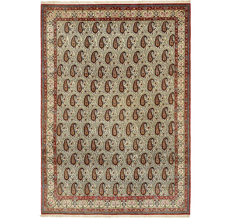 8' 2 x 11' 6 Qom Persian Rug