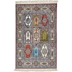 HandKnotted 2' 6 x 4' Hereke Oriental Rug