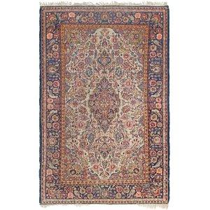 4' 5 x 6' 10 Kashan Persian Rug