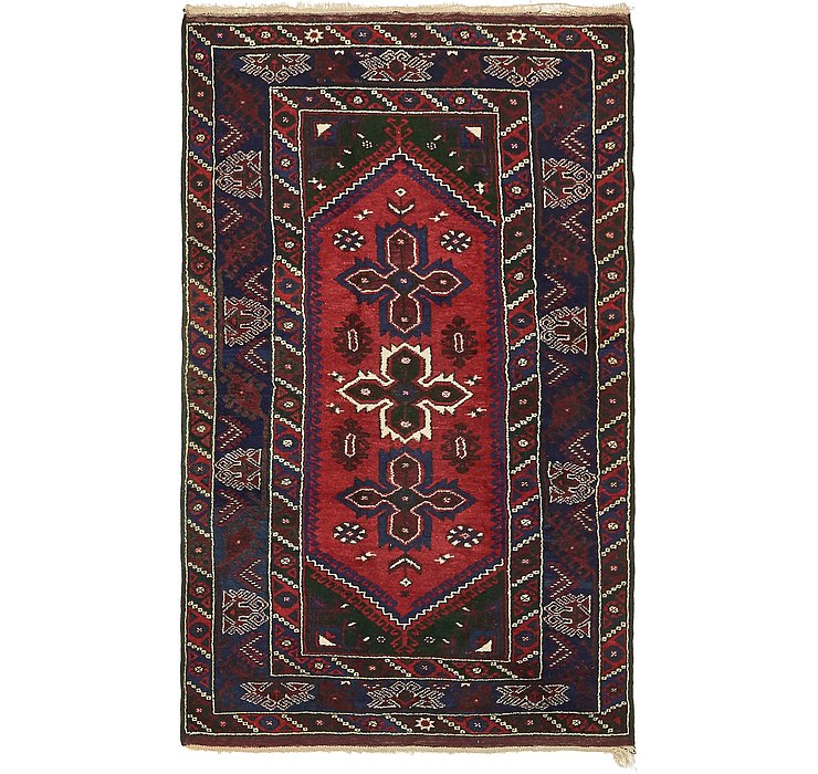 4' 3 x 7' 1 Hamedan Persian Rug