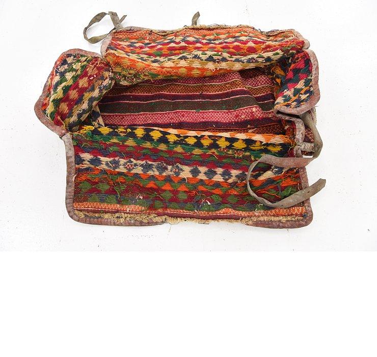 5' 1 x 5' 7 Saddle Bag Persian Squa...