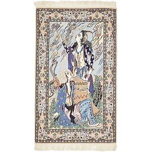 Unique Loom 2' 4 x 3' 10 Isfahan Persian Rug