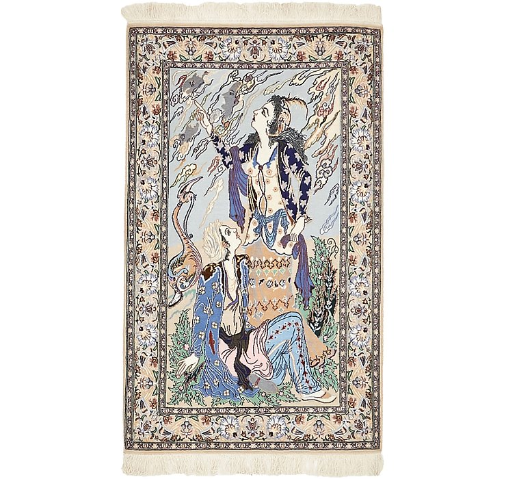 2' 4 x 3' 10 Isfahan Persian Rug