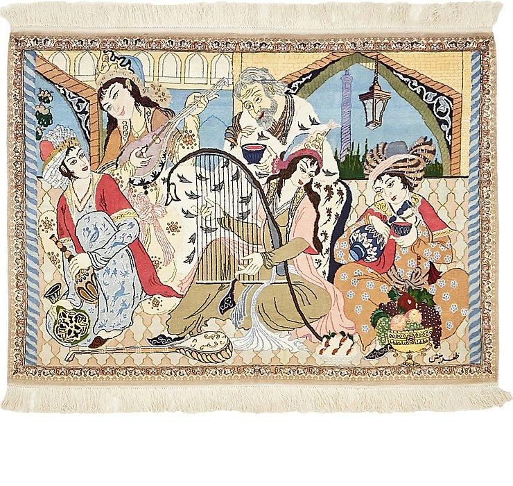 2' 9 x 3' 9 Isfahan Persian Rug