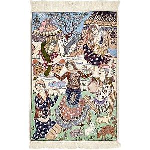 2' 4 x 3' 5 Isfahan Persian Rug