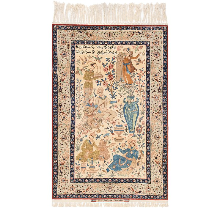 3' 10 x 6' 2 Isfahan Persian Rug