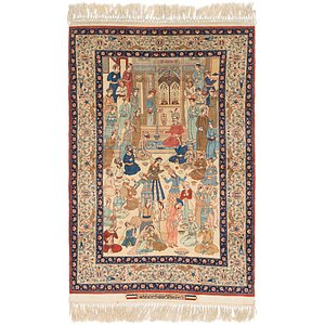 3' 8 x 5' 10 Isfahan Persian Rug