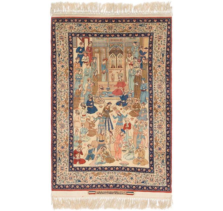 HandKnotted 3' 8 x 5' 10 Isfahan Persian Rug