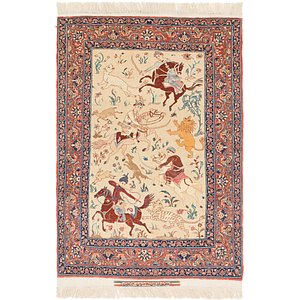 3' 4 x 5' 3 Isfahan Persian Rug