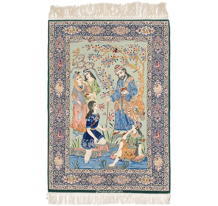 3' 6 x 5' 3 Isfahan Persian Rug