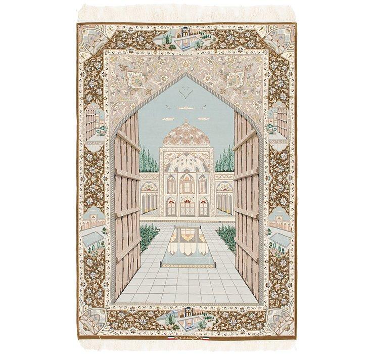 4' 4 x 6' 6 Isfahan Persian Rug
