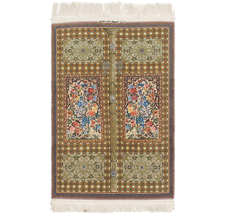 3' 4 x 5' 2 Isfahan Persian Rug