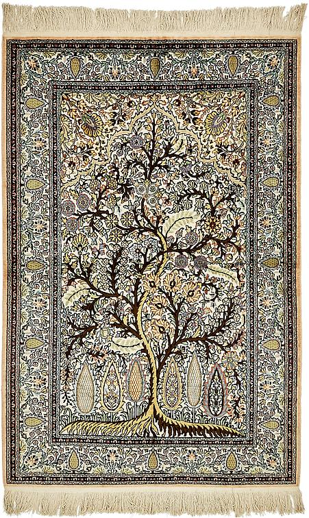 wall ardabil knotted handknotted ardebil silk kashmir rugs designs grande on products wallhanging green h hand tapertry design teal carpet rug medallion oriental art