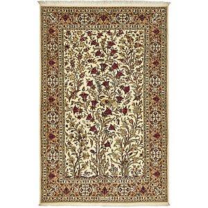4' 9 x 7' 2 Kashan Persian Rug