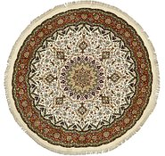 Link to 6' 9 x 7' Tabriz Persian Round Rug