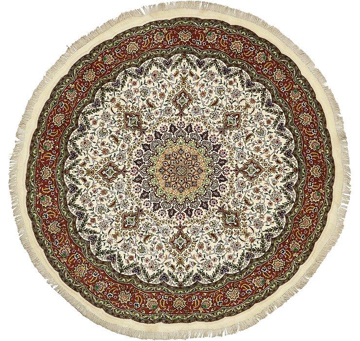 6' 9 x 7' Tabriz Persian Round Rug