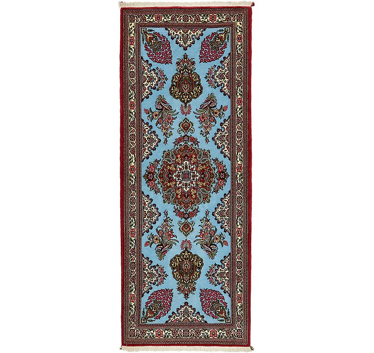 2' 7 x 6' 9 Qom Persian Runner Rug