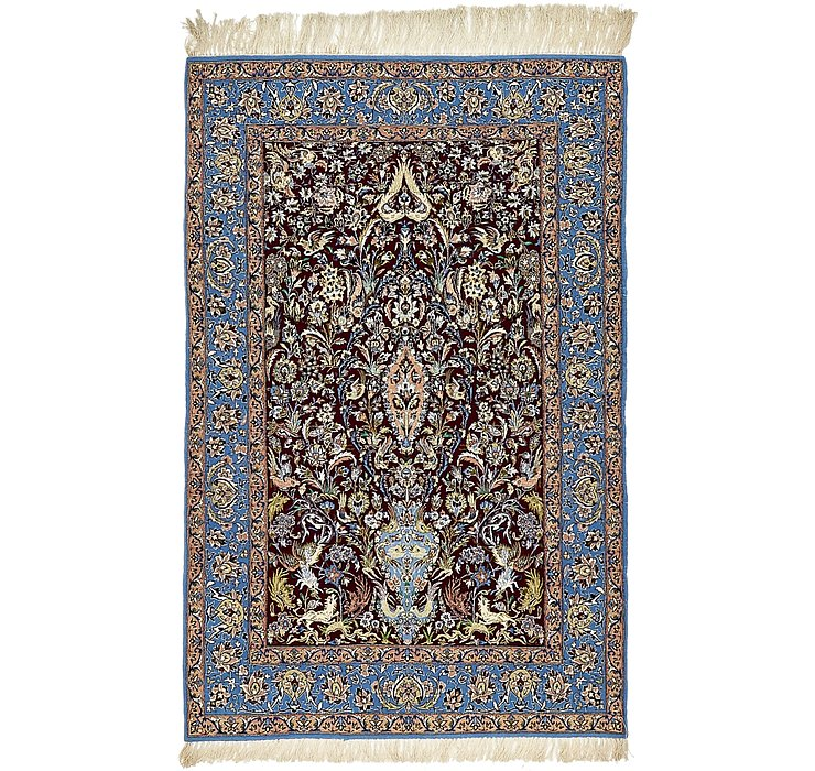 3' 8 x 5' 6 Isfahan Persian Rug
