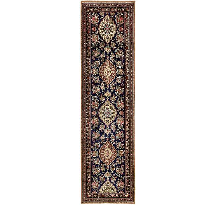 3' 3 x 12' 8 Qom Persian Runner Rug