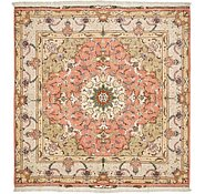 Link to 6' 8 x 6' 8 Tabriz Persian Square Rug