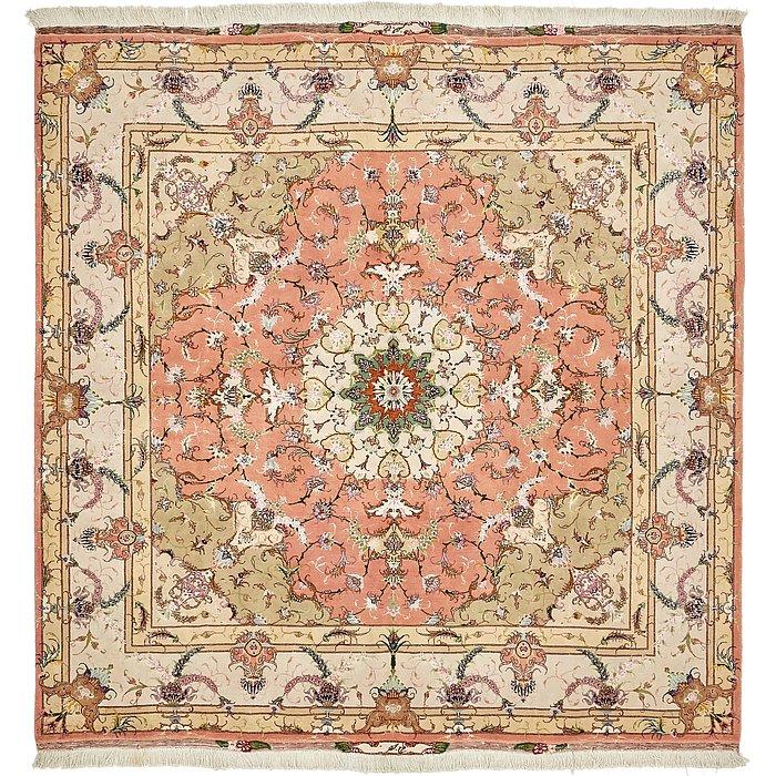 6' 8 x 6' 8 Tabriz Persian Square Rug