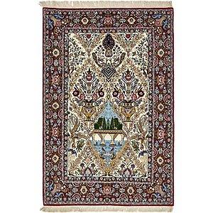 3' 7 x 5' 5 Isfahan Persian Rug