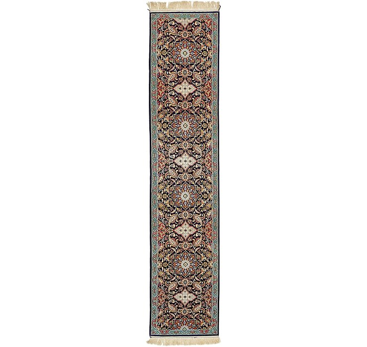 2' 1 x 10' Isfahan Persian Runner ...