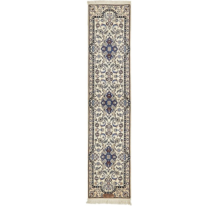 1' 7 x 7' 1 Nain Persian Runner Rug