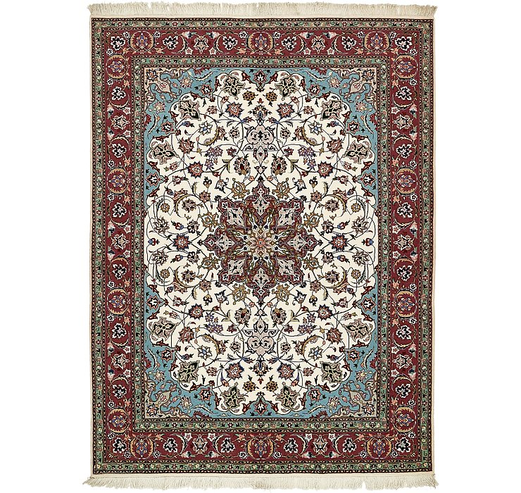 HandKnotted 5' x 6' 8 Tabriz Persian Rug
