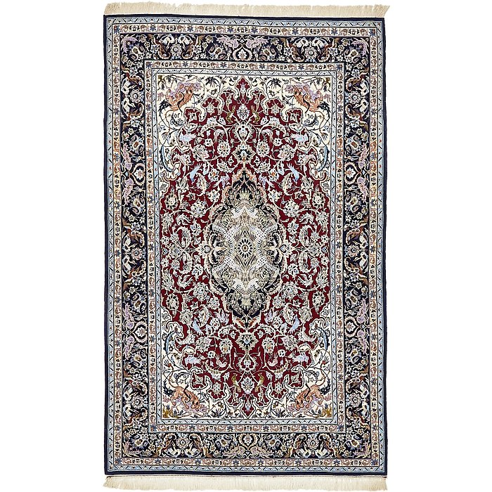 4' 1 x 6' 6 Isfahan Persian Rug