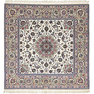 HandKnotted 6' 7 x 6' 8 Isfahan Persian Square ...