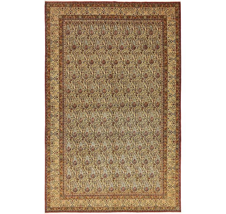 7' 7 x 11' 8 Qom Persian Rug