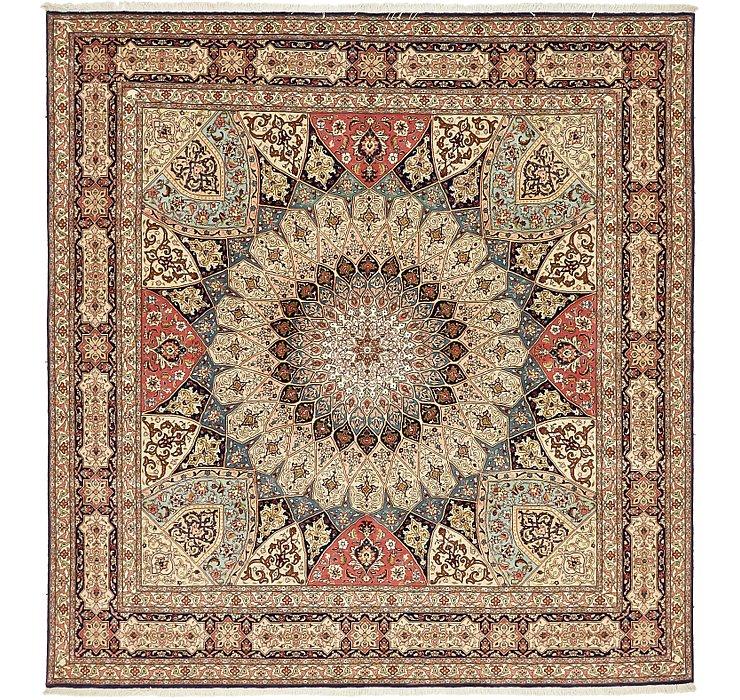 8' 2 x 8' 6 Tabriz Persian Square Rug
