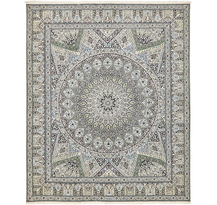 6' 7 x 8' Nain Persian Square Rug