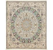 Link to 6' 6 x 7' 8 Nain Persian Square Rug