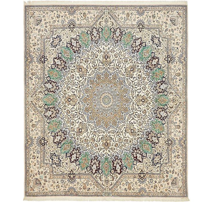 6' 6 x 7' 8 Nain Persian Square Rug