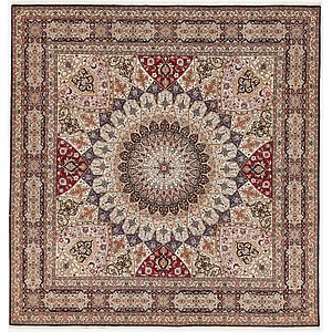 HandKnotted 8' 2 x 8' 5 Tabriz Persian Square Rug