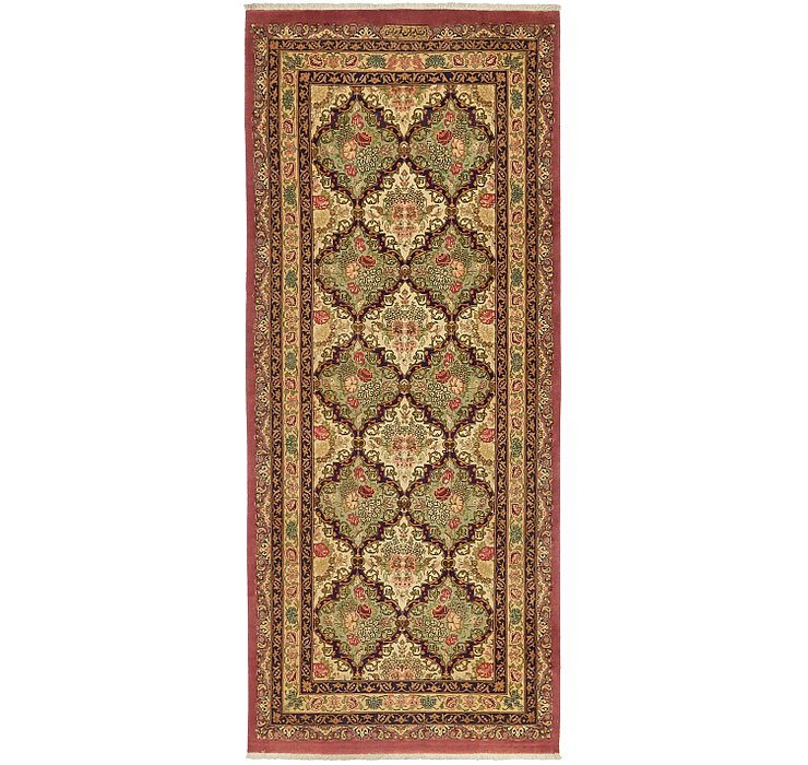 3' 3 x 7' 8 Qom Persian Runner Rug