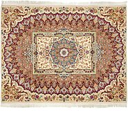 Link to 5' x 6' 5 Tabriz Persian Square Rug