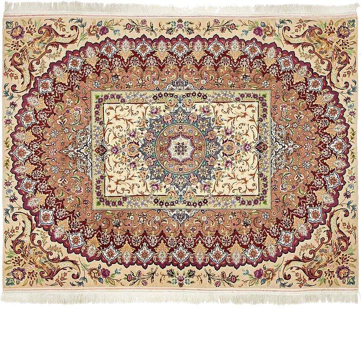 5' x 6' 5 Tabriz Persian Square Rug