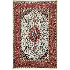 4' 7 x 7' Kashan Persian Rug